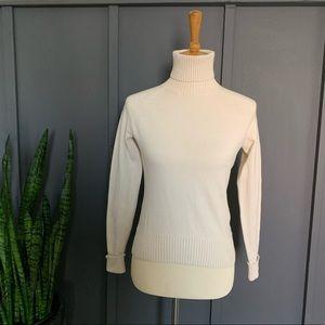 BR merino wool turtle neck sweater